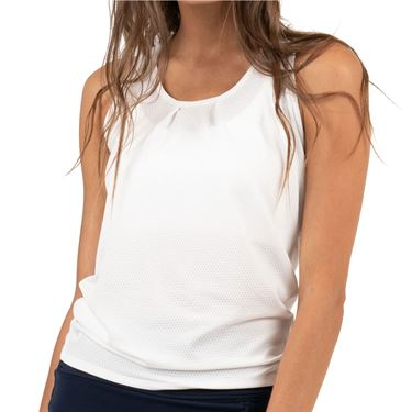Lucky In Love Core Tie Back Tank Womens White CT327 110