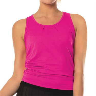 Lucky In Love Core Tie Back Tank Womens Shocking Pink CT327 645