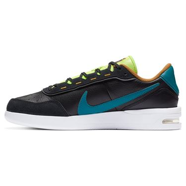 Nike Court Air Max Vapor Wing Premium Mens Tennis Shoe - White/Valerian Blue/Total Crimson/Gold