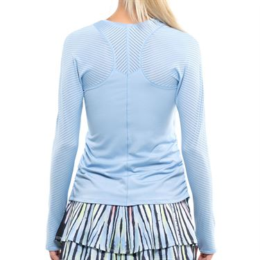 Lucky in Love Going Wild Shadow Stripe Long Sleeve Top Womens Cloud CT468 418