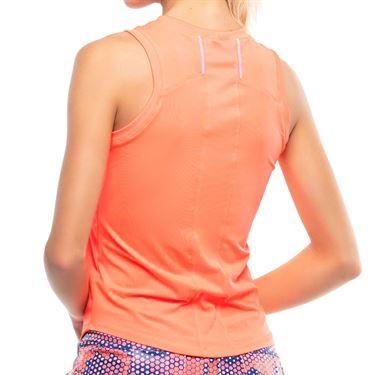 Lucky in Love Kinetic Energy Starter Ribbed Tank Womens Orange Glow CT608 810