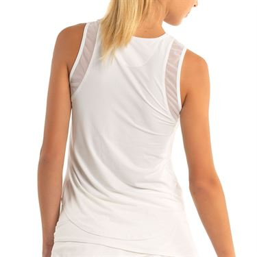 Lucky In Love LUV Chill Out Tank Womens White CT661 110