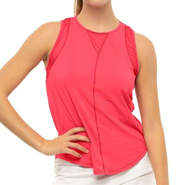 Lucky In Love LUV Chill Out Tank Womens Coral Crush CT661 647