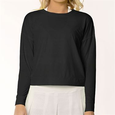 Lucky in Love L UV Protection Hype Long Sleeve Top Womens Black CT658 001
