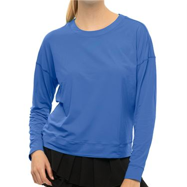 Lucky In Love LUV Hype Long Sleeve Top Womens Blue Marine CT668 430