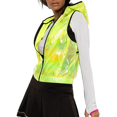 Lucky in Love Rockin Rococo Spotlight Vest Womens Neon Yellow CT692 710