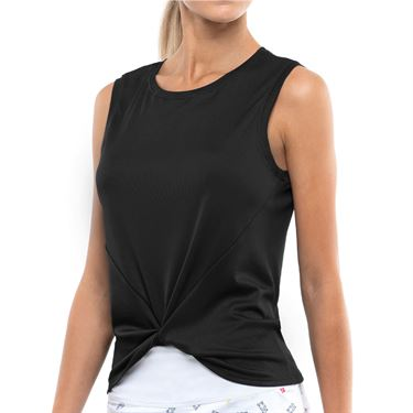 Lucky in Love Twist Front Tank Womens Black CT701 001