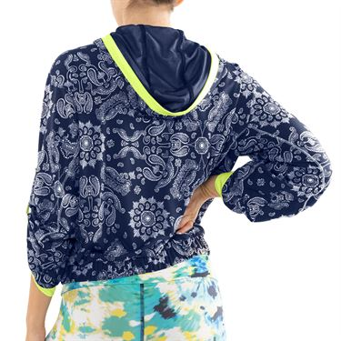 Lucky in Love Peace Out Bandana Bell Sleeve Jacket Womens Midnight CT723 C44401