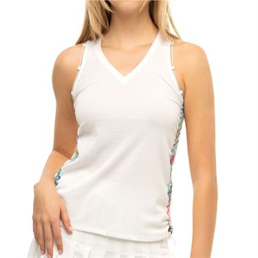 Lucky in Love Count Me In I Sheer Can Tank Womens White CT750 G73110