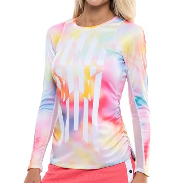 Lucky in Love Techno Tropic Techno Star Long Sleeve Top Womens Punch CT758 E30675