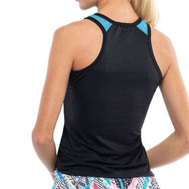 Lucky in Love Square Are You Tuck Me In Tank Womens Black CT761 001
