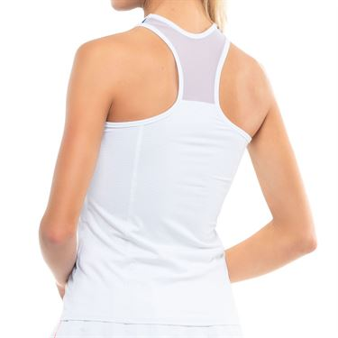 Lucky in Love Kinetic Energy Be Mine Racerback Tank Womens White CT763 120