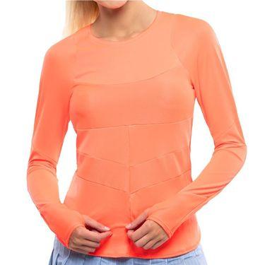 Lucky in Love Kinetic Energy Reflect Long Sleeve Top Womens Orange Glow CT765 810
