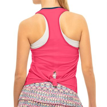 Lucky in Love Pretty In Ink Think Ink Tank Womens Shocking Pink CT770 G90645