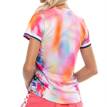 Lucky in Love Techno Tropic Top Womens Punch CT772 E74675