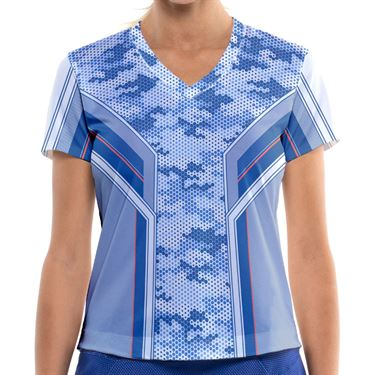 Lucky in Love Kinetic Energy Top Womens Cobalt CT772 E75406
