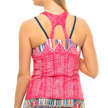 Lucky in Love Pretty In Ink Tank Womens Shocking Pink CT773 G47645