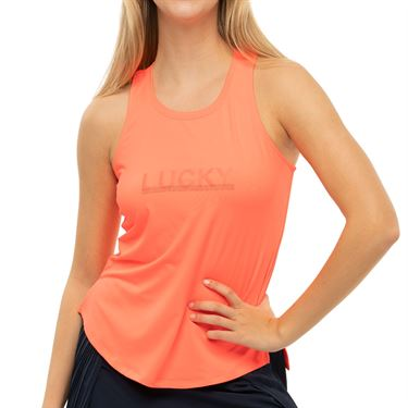 Lucky in Love Novelty Feeling Lucky Tank Womens Coral CT777 G12801