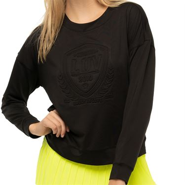 Lucky in Love Novelty The Original Long Sleeve Top Womens Black CT783 G15001