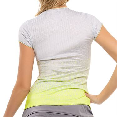 Lucky in Love Nice To Pleat You Turn It Up Top Womens Neon Yellow CT794 H56710