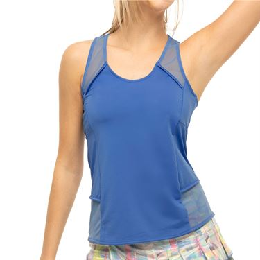 Lucky in Love Count Me In Feel Free Tank Womens Blue Marine CT798 430
