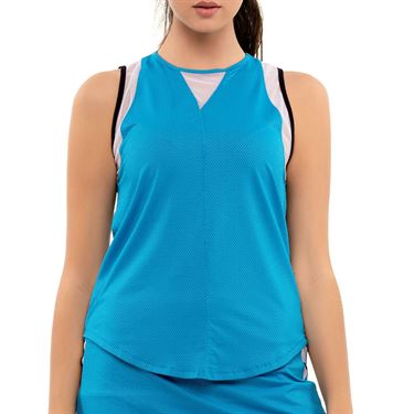 Lucky in Love Post A Plaid Chill Out Tank Womens Turquoise CT809 409