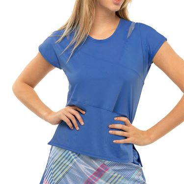 Lucky in Love Count Me In Love You To Pieces Top Womens Blue Marine CT813 430