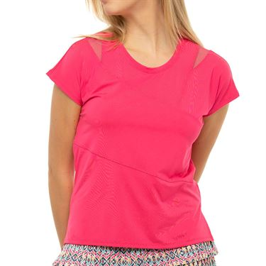 Lucky in Love Pretty In Ink Love You To Pieces Top Womens Shocking Pink CT813 645