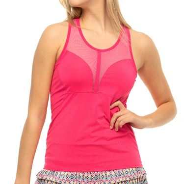 Lucky in Love Pretty In Ink Baseline Tank Womens Shocking Pink CT817 645