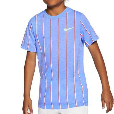 Nike Boys Court Dri Fit Crew Shirt Royal Pulse CU0338 478