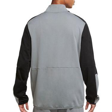 Nike Dri FIT Full Zip Jacket Mens Smoke Grey/Black CU4947 084