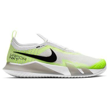 Nike Court React Vapor NXT Mens Tennis Shoe Grey Fog/Black/White/Volt CV0724 001
