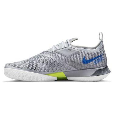 Nike Court React Vapor NXT Mens Tennis Shoe Light Smoke Grey/Hyper Royal/Aluminum CV0724 008