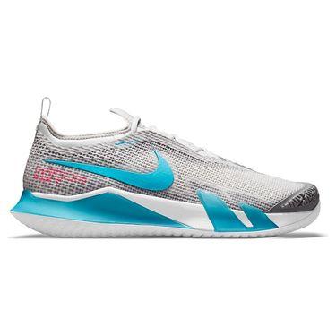Nike Court React Vapor NXT Mens Tennis Shoe Grey Fog/Chlorine Blue/Hyper Pink/White CV0724 024