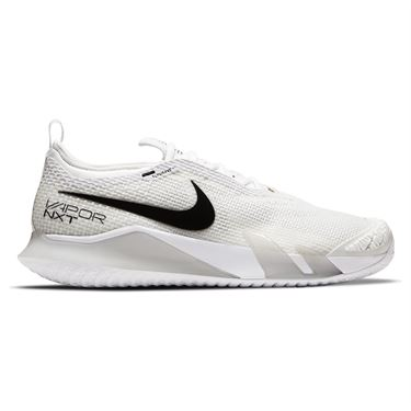 Nike Court React Vapor NXT Mens Tennis Shoe - White/Black/Grey Fog ...
