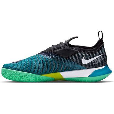 Nike Court React Vapor NXT Mens Tennis Shoe Dark Teal Green/White/Black/Green Glow CV0724 324
