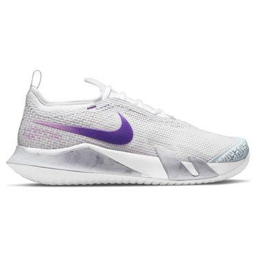 Nike Court React Vapor NXT Womens Tennis Shoe Photon Dust/Court Purple/Fuchsia Glow CV0742 024