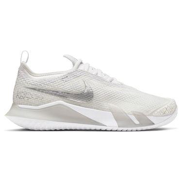 Nike Court React Vapor NXT Womens Tennis Shoe White/Metallic Silver/Grey Fog CV0742 100