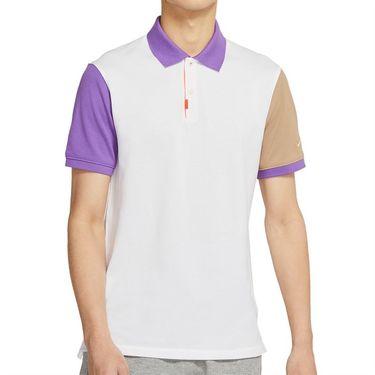 Nike The Nike Polo Shirt Mens White/Wild Berry/Parachute Beige CV2482 100