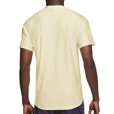 Nike Court Dri FIT Advantage Shirt Mens Coconut Milk/Black CV2499 113