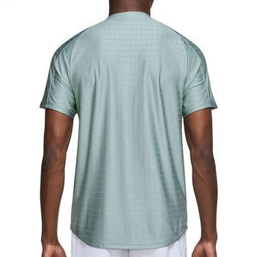Nike Court Dri FIT Advantage Shirt Mens Jade Smoke/Black CV2499 357