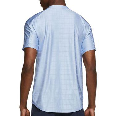 Nike Court Dri FIT Advantage Shirt Mens Aluminum/Black CV2499 468