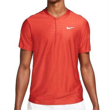Nike Court Dri FIT Advantage Polo Mens Cinnabar/White CV2499 671