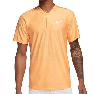 Nike Court Dri FIT Advantage Shirt Mens Peach Cream/White CV2499 811