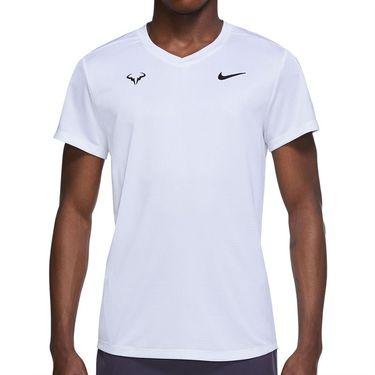 Nike Rafa Challenger Crew Shirt Mens White/Black CV2572 100
