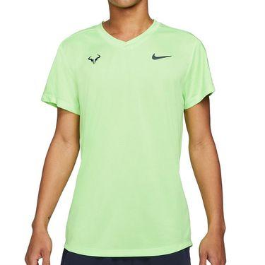 Nike Rafa Challenger Shirt Mens Lime Glow/Obsidian CV2572 345