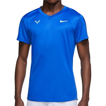 Nike Rafa Challenger Shirt Mens Hyper Royal/Lime Glow CV2472 405