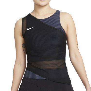 Nike Court Dri FIT ADV Slam Tank Womens Black/White CV2796 010