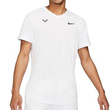 Nike Court Dri Fit Advantage Rafa Crew Shirt Mens White/Black CV2802 100