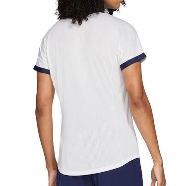 Nike Court Dri Fit Advantage Rafa Shirt Mens White/Binary Blue/Chile Red CV2802 101